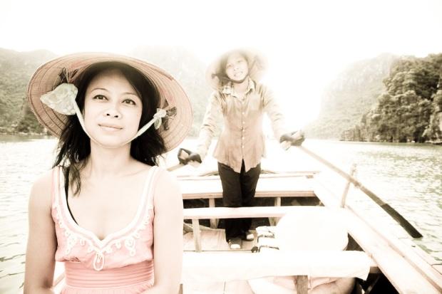 Doan in row boat