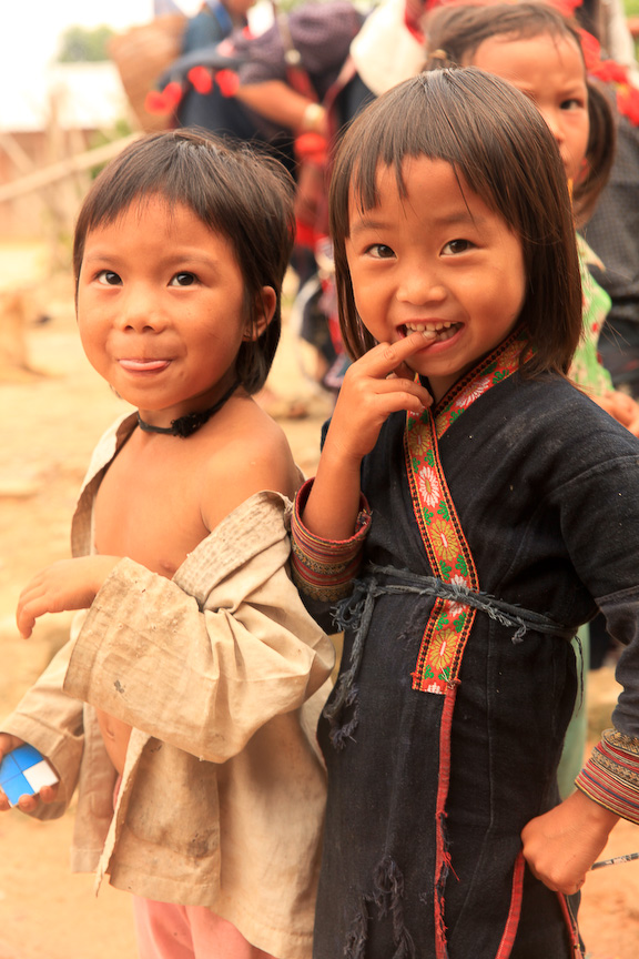 kids in Sapa, Vietnam