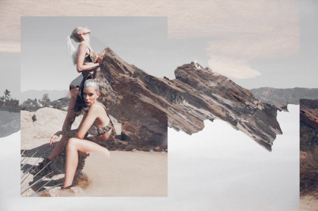 Heather Brady and Lauren Young at Vasquez Rocks